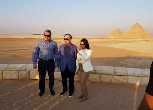 نائب الرئيس الصيني يزور منطقة الأهرامات بالجيزة