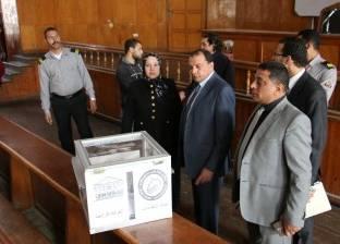 رئيس جامعة بني سويف يتفقد انتخابات اتحاد الطلبة بجولتها الأولى