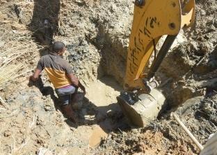 مركز الخارجة ينتهي من إصلاح 4 أعطال بشبكة مياه الشرب