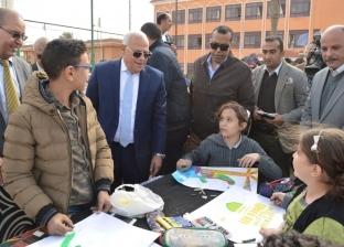 """الغضبان يتفقد المدارس المشاركة في مسابقة """"بورسعيد في عيون أبنائها"""""""