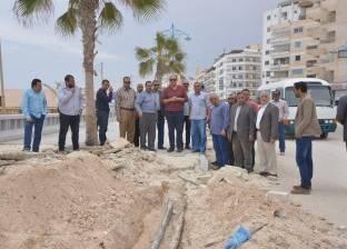 محافظ مطروح يتابع أعمال التطوير النهائي بالميادين والشوارع والكورنيش