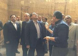 بالصور| رئيس الحكومة ووزيرا الآثار والنقل يزورون معبد دندرة بقنا
