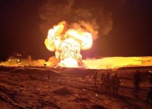 """""""البترول"""": جارٍ السيطرة على حريق """"بريمة الحفر"""" جنوب مدينة رأس سدر"""