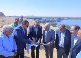 وزير النقل يضع حجر أساس كوبري الشرقاوية لحل مشكلات الاختناقات المرورية