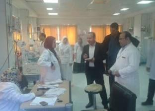 """مدير الطب العلاجي بـ""""صحة البحيرة"""" يتابع الخدمات بمستشفى إيتاى البارود"""