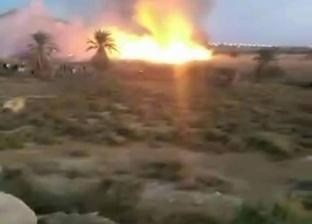 السيطرة على حريق بأشجار النخيل المجاورة لحمام موسى بمدينة الطور