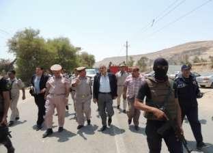 مدير أمن أسيوط يتفقد خدمات تأمين دير العذراء بدرنكة