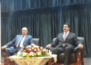 بالصور| رئيس مجلس الدولة يشارك في ندوة تثقيفية بحضور محافظ القليوبية