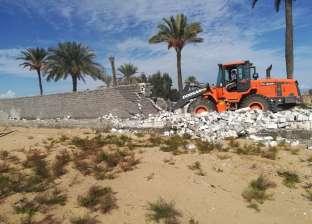 إزالة 725 حالة تعد على 202 فدان ضمن الحملة المكبرة في كفر الشيخ
