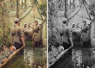 بالصور| إعادة الحياة للقطات من الحرب العالمية الثانية