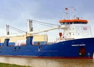 ميناء غرب بورسعيد يستقبل 1402 رأس ماشية ومعدات بترولية تابعة لحقل ظهر