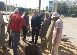 محافظ البحر الأحمر يتابع أعمال رفع كفاءة شبكة المرافق بشوارع الغردقة