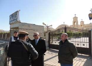 مدير أمن مطروح يتفقد تأمين الكنائس في عيد الميلاد