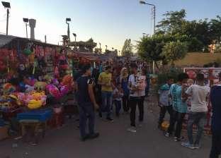 بالصور| انتشار الشرطة النسائية في حدائق المنصورة لمنع التحرش في العيد