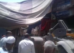"""مدير أمن بني سويف يقود حملة أمنية لإزالة الإشغالات بـ""""إهناسيا"""""""