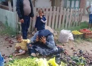"""قصة """"بائعة الخضار"""".. حملة سوق رأس البر داست على شقا عمر """"أم مازن"""""""