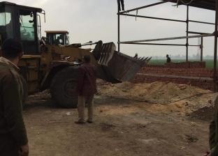 إزالة 72 حالة تعد على الأراضي الزراعية وأملاك الدولة في الحامول
