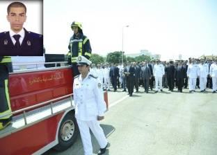 """وزير الداخلية يتقدم الجنازة العسكرية لضابط استشهد متأثرا بإصابته عقب فض """"رابعة"""""""