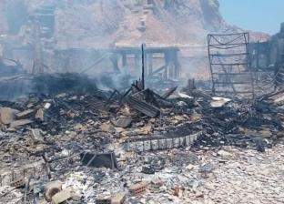 تفحم مسنة في حريق بحوش مقابر دمنهور في البحيرة