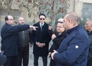 بالصور| نائب محافظ القاهرة يتفقد المحاور البديلة لكوبري السيدة عائشة