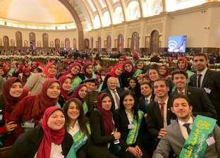 بالصور| طلاب جامعة القاهرة يشاركون في افتتاح كاتدرائية ميلاد المسيح