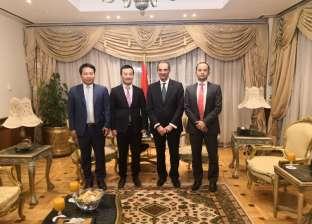وزير الاتصالات يلتقي نائب رئيس شركة هواوي العالمية