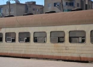 توقف حركة القطارات بمنوف بسبب خروج عربات قطار عن القضبان