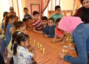 ورش عمل لتعليم الأطفال الرسم والفنون في مكتبة مصر العامة بمطروح