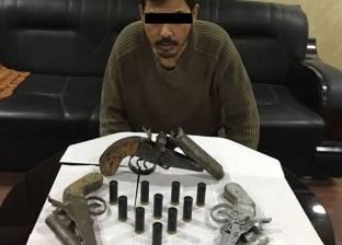 ضبط 3 قطع سلاح نارى بحوزة عاطل بقصد الاتجار في القليوبية