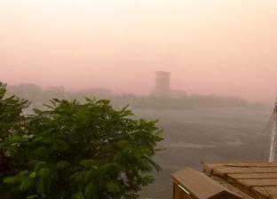 """غلق طريق """"أسوان -  القاهرة"""" الصحراوي الغربي بسبب عاصفة ترابية"""