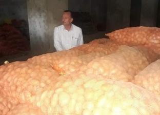 ضبط 540 طن بطاطس قبل بيعها في السوق السوداء بالبحيرة