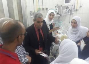 """وكيل """"صحة المنوفية"""" يغلق """"غرفة عمليات"""" مستشفى في الشهداء"""