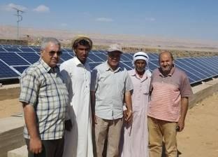 بالصور| تشغيل بئر الرملة بالطاقة الشمسية في مدينة أبو زنيمة