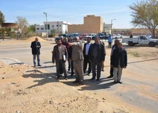 محافظ الوادي الجديد يتفقد المنطقة الصناعية بمدينة الخارجة