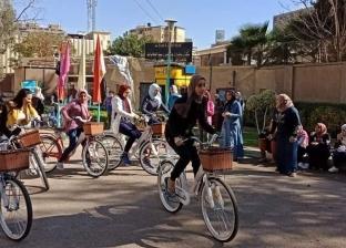 كلاكيت أول مرة.. سباق دراجات لطالبات «القاهرة»