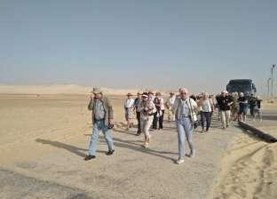 وفود سياحية من دول إنجلترا واليابان والدنمارك تزور آثار المنيا