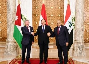 بدء القمة الثلاثية بين السيسي والعاهل الأردني ورئيس الوزراء العراقي