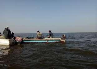 بالصور| حملة أمنية لإزالة التعديات على بحيرة البرلس في كفر الشيخ