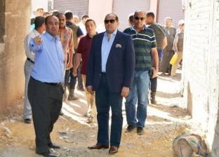 محافظ سوهاج يتفقد أعمال توصيل الصرف بمنطقة الخلوة بأخميم