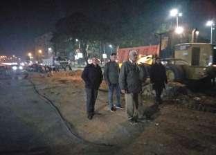 إزالة رصيف بشارع جامعة الدول لتنفيذ المرحلة الرابعة من مترو الأنفاق