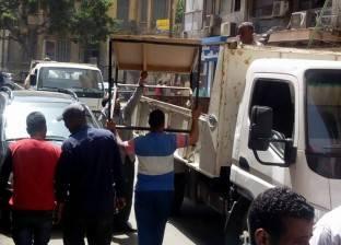 إدارة إشغال الطريق تشن حملة لإزالة التعديات بحي شرق بالإسكندرية