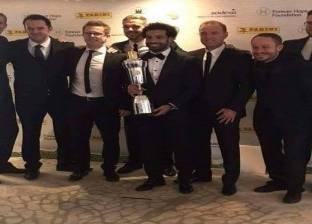 صورة مسربة تكشف تتويج «صلاح» بجائزة أفضل لاعب بـ «البريميرليج»
