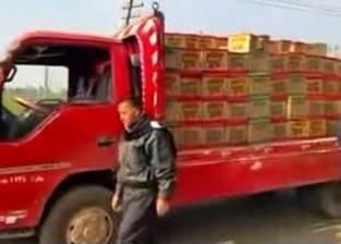ضبط 3600 زجاجة زيت طعام مجهول المصدر في البحيرة