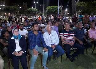 الآلاف حول شاشات العرض لمشاهدة مباراة المنتخب في بور سعيد