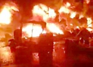 عاجل.. حريق ضخم في مخزن معهد أزهري بالأقصر