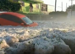 بالفيديو| الثلج يمحي معالم مدينة مكسيكية