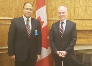 سفير مصر في كندا يبحث تعزيز التعاون مع مستشار رئيس الوزراء