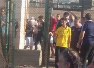 """بالصور  """"الأولتراس"""" يقتحم مران الأهلي في مدينة نصر"""