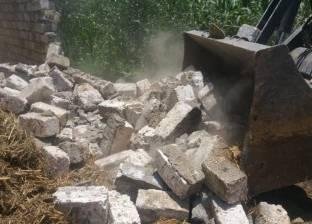 إزالة 17 حالة تعدِ على أملاك الدولة وطرح النهر في دار السلام بسوهاج