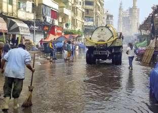 للتعامل مع مياه الأمطار.. نشر 37 شفاطا بأحياء جنوب بالقاهرة
